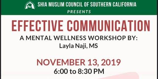 Effective Communication: A SMC Mental Wellness Workshop