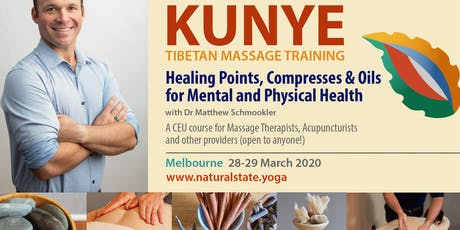 Elements of Kunye Tibetan Massage ~ Healing Points, Compresses & Oils tickets