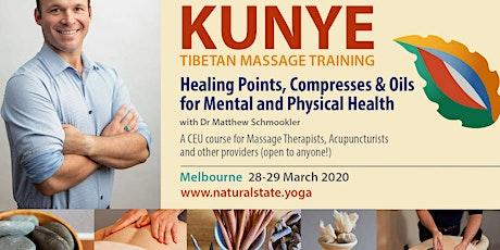 Elements of Kunye Tibetan Massage ~ Healing Points, Compresses & Oils tickets