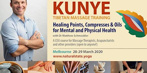 Elements of Kunye Tibetan Massage ~ Healing Points, Compresses & Oils