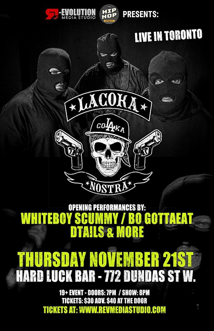 La Coka Nostra Live in Toronto Nov. 21st at Hard Luck Bar image
