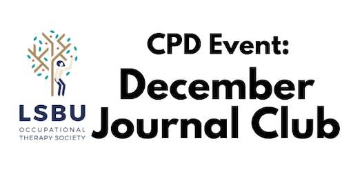 LSBU OT Society December Breakfast Journal Club