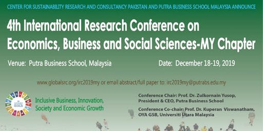 4th IRC on Economics, Business and Social Sciences - Malaysia Chapter