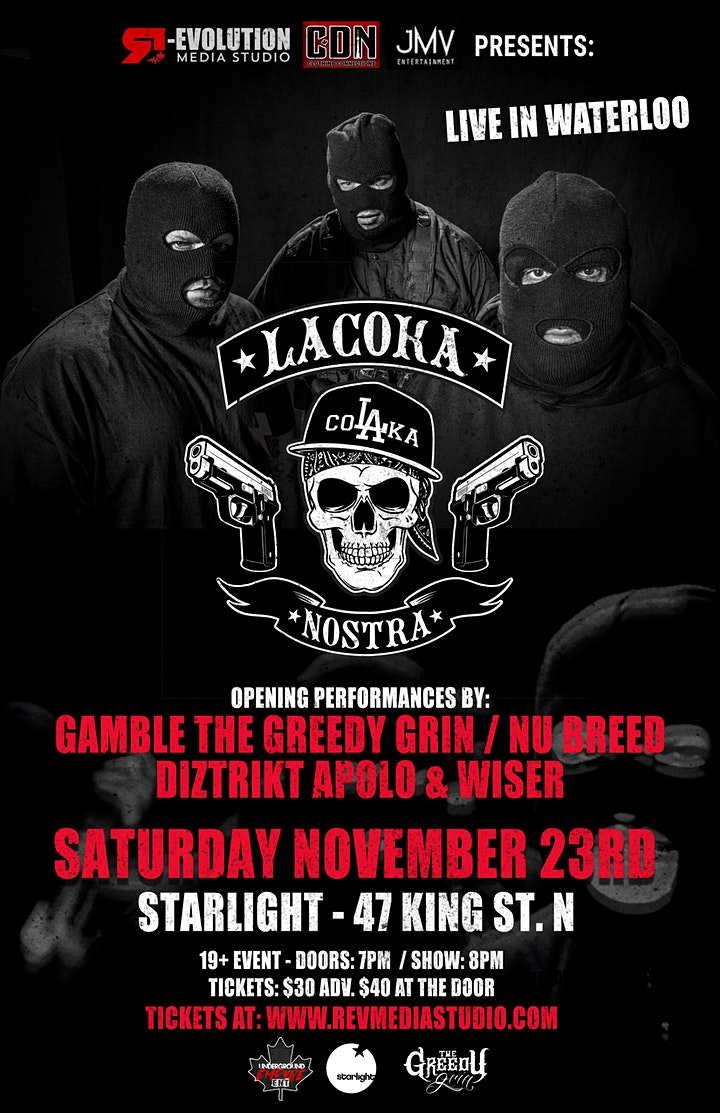 La Coka Nostra Live in Waterloo Nov 23rd at Starlight image
