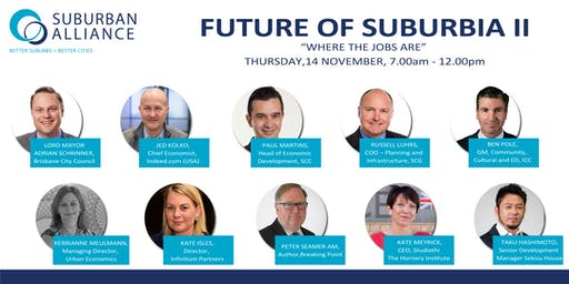 FUTURE OF SUBURBIA II - WHERE THE JOBS ARE