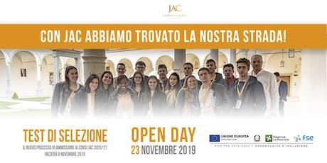 Open Day JAC 23 novembre 2019 biglietti