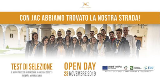 Open Day JAC 23 novembre 2019