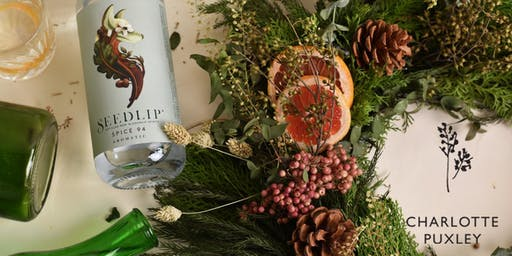 Christmas Wreath Making with Seedlip and Charlotte Puxley Flowers