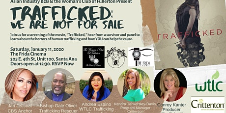 """AIB2B Presents a Screening of """"Trafficked"""" at the Frida Cinema tickets"""
