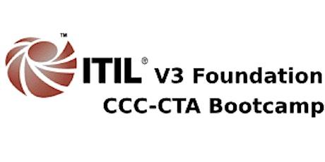 ITIL V3 Foundation + CCC-CTA 4 Days Virtual Live Bootcamp in Pretoria tickets