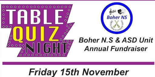 Boher National School & ASD Unit Table Quiz Fundraiser