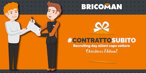 #CONTRATTOSUBITO, il recruiting day di Bricoman con assunzione immediata