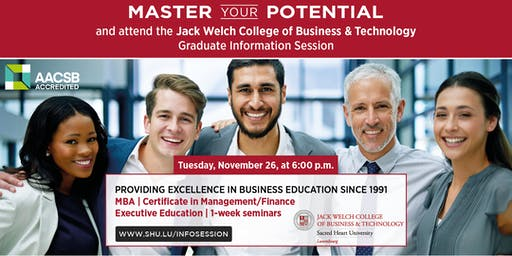 MBA Info Session: Jack Welch College of Business & Technology