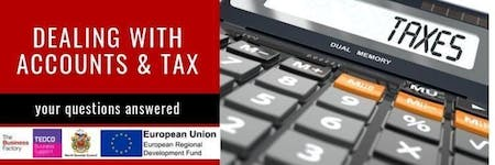 Dealing with Accounts and Tax | Tuesday 26th Nov at 1.30pm