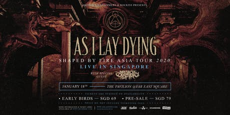 As I Lay Dying Live in Singapore 2020 tickets