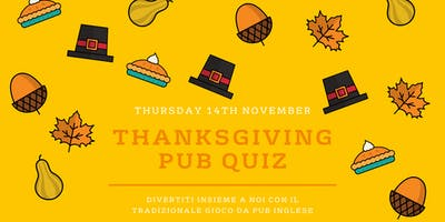 Thanksgiving Pub Quiz