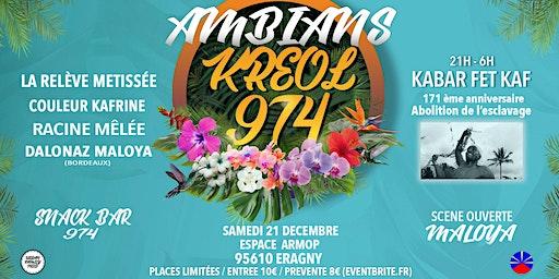 AMBIANS KREOL 974 / EDITION KABAR FET KAF / ERAGNY (95) ESPACE ARMOP