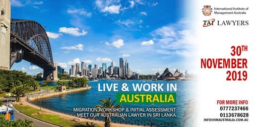 LIVE & WORK IN Australia - Info session