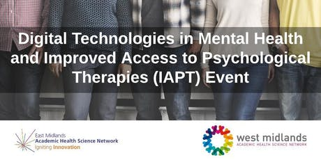Digital Technologies in Mental Health and IAPT Event tickets