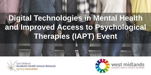 Digital Technologies in Mental Health and IAPT Event