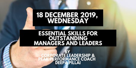 Essential Skills for Outstanding Managers & Leaders tickets