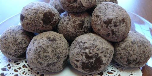 Whiskey Balls and Chocolate Filled Biscuit Cookies