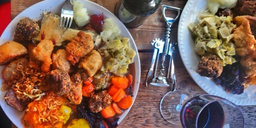 Vegan Christmas Cooking Workshop - with mulled wine and a shared meal!
