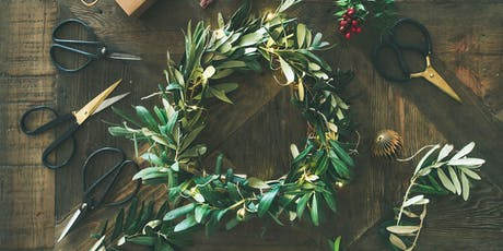 Christmas Wreath making workshop with bubbles and miniatures tickets