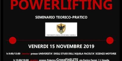 POWERLIFTING - SEMINARIO TEORICO-PRATICO UNIVERSITÀ DEGLI STUDI DELL'AQUILA