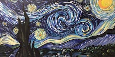"CocktailsnCanvas Revolution Wilmslow...... ""Starry Night"""