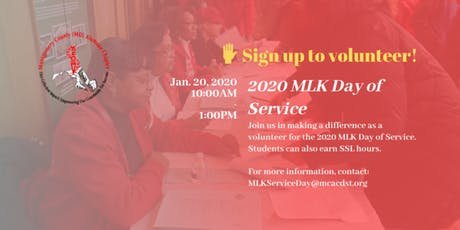 2020 MLK Day of Service tickets