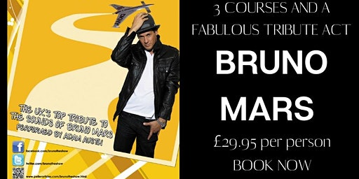 JOIN US FOR A FESTIVE NIGHT OF FUN, FOOD, FIZZ AND BRUNO MARS TRIBUTE!