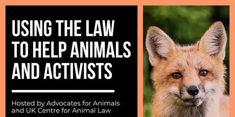 Using the Law to help Animals and Activists tickets