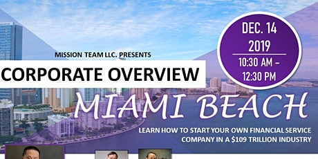 Miami Corporate Overview tickets