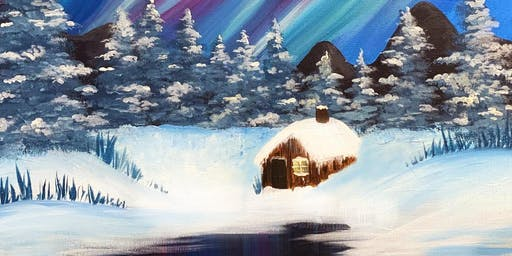 Northern Lights 'Paint, Prosecco & Pies' Brush Party - Reading