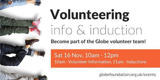 Globe volunteering info & induction