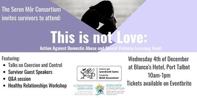 This is not Love: Domestic Abuse and Sexual Violence Learning Event