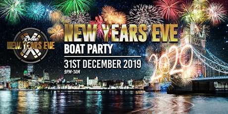 New Years Eve Boat Party with London Firework Displays! tickets