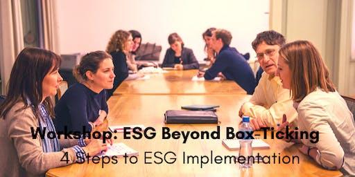Workshop: ESG Beyond Box-Ticking - 4 Steps to ESG Implementation