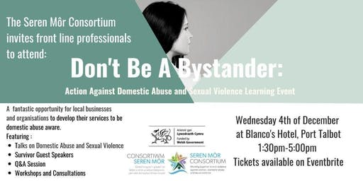 Don't be a Bystander: Domestic Abuse and Sexual Violence Learning Event