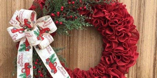 Holiday Burlap Wreath Class