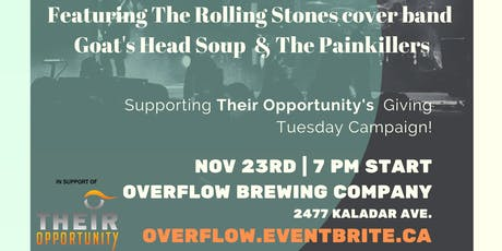 Overflow Brewing Company does #GivingTuesday w Craft Beer & Live Music tickets