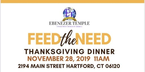 Thanksgiving Dinner 3rd Annual Feed the Need