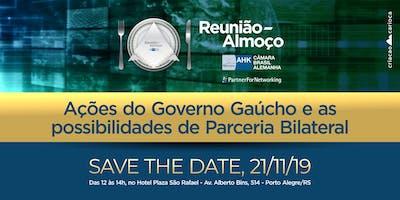 Reunião-Almoço: Ações do Governo e as Possibilidades de parceria bilateral