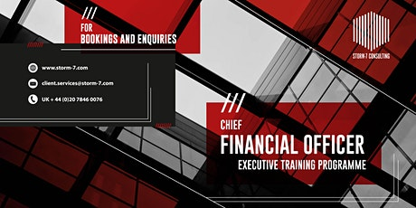 STORM-7 CONSULTING - CFO Executive Training Programme (SINGAPORE) tickets
