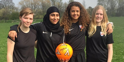 FREE Female Football Girls aged 11 to 16 - Chingford/Walthamstow E4