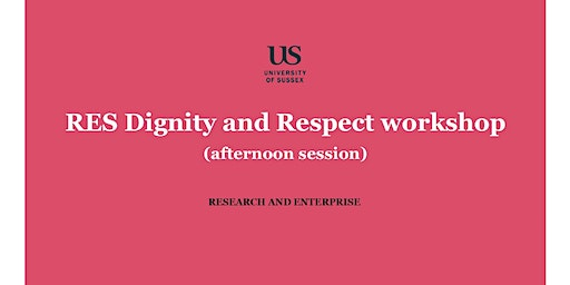 RES Dignity and Respect workshop - afternoon session, 20 January