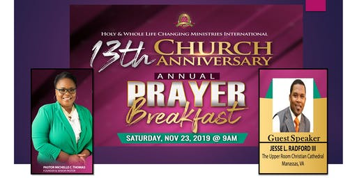 13th Church Anniversary Annual Prayer Breakfast