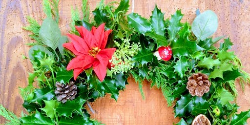Holly Wreath Workshop, Torpoint Library