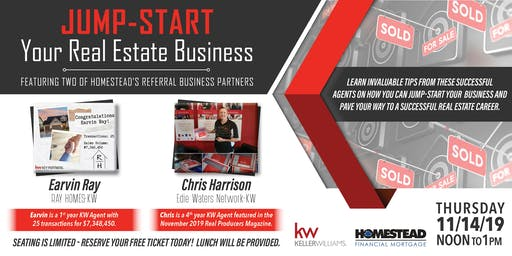 Jump-Start Your Real Estate Business - Lunch & Learn